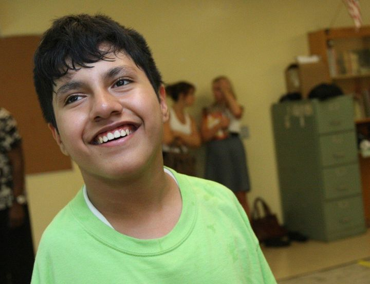 Simon is seen in this photo from 2009 at an Alvin Ailey Dance camp.