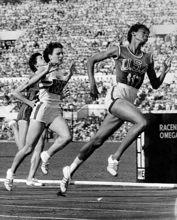 "Nicknamed ""the black gazelle,"" <a href=""http://www.biography.com/people/wilma-rudolph-9466552#synopsis"" target=""_blank"">Rudol"