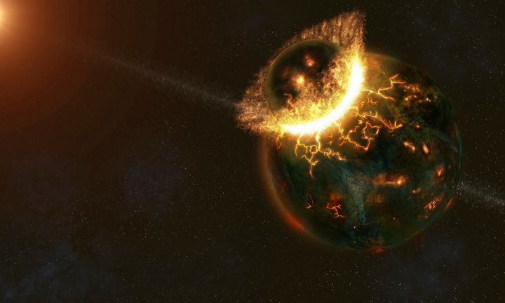 New research suggests the Earth is made up of two planets that collided and fused together 4.5 billion years ago.