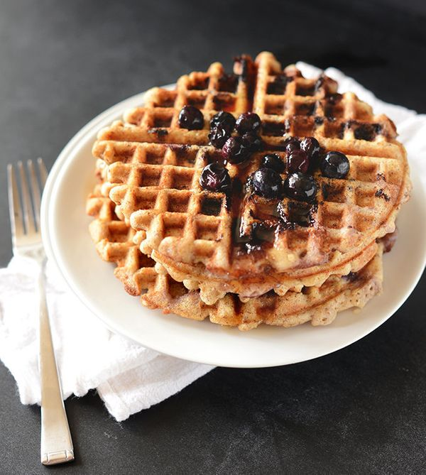 "<strong>Get the <a href=""http://minimalistbaker.com/lemon-blueberry-waffles-vegan-gluten-free/"" target=""_blank"">Gluten-Free L"