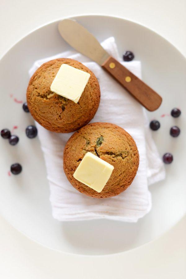 "<strong>Get the <a href=""http://minimalistbaker.com/vegan-gluten-free-blueberry-muffins-for-2/"" target=""_blank"">Gluten-Free B"