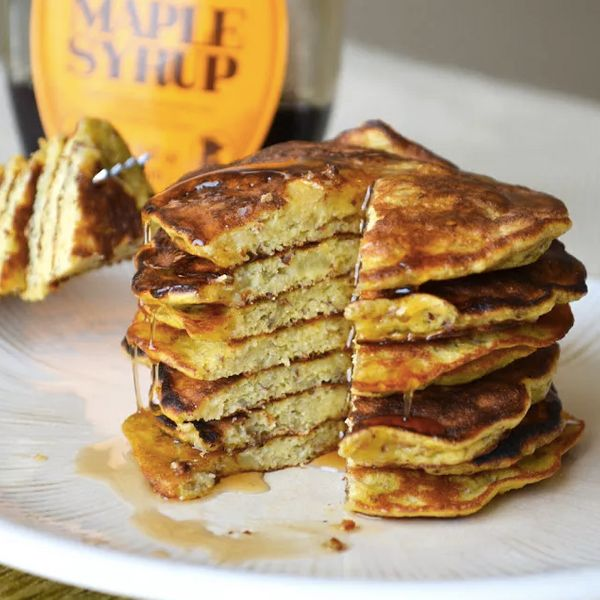 """<strong>Get the <a href=""""http://fitfoodiefinds.com/2013/02/3-ingredient-banana-pancakes/"""" target=""""_blank"""">3-Ingredient Banana"""