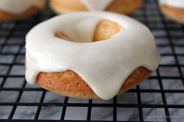 "<strong>Get the <a href=""http://www.agirldefloured.com/2013/03/26/gluten-free-baked-maple-glazed-doughnuts/"" target=""_blank"">"
