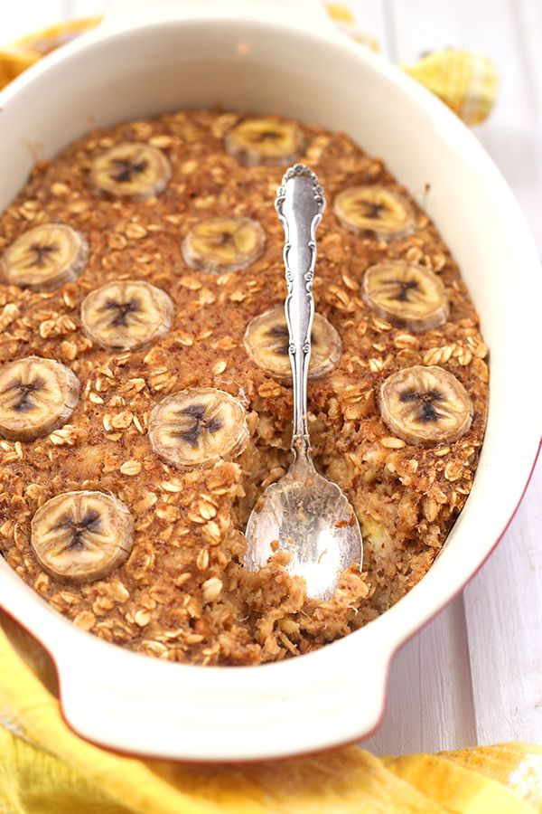 """<strong>Get the <a href=""""http://www.thehealthymaven.com/2015/11/banana-bread-baked-oatmeal.html"""" target=""""_blank"""">Banana Bread"""