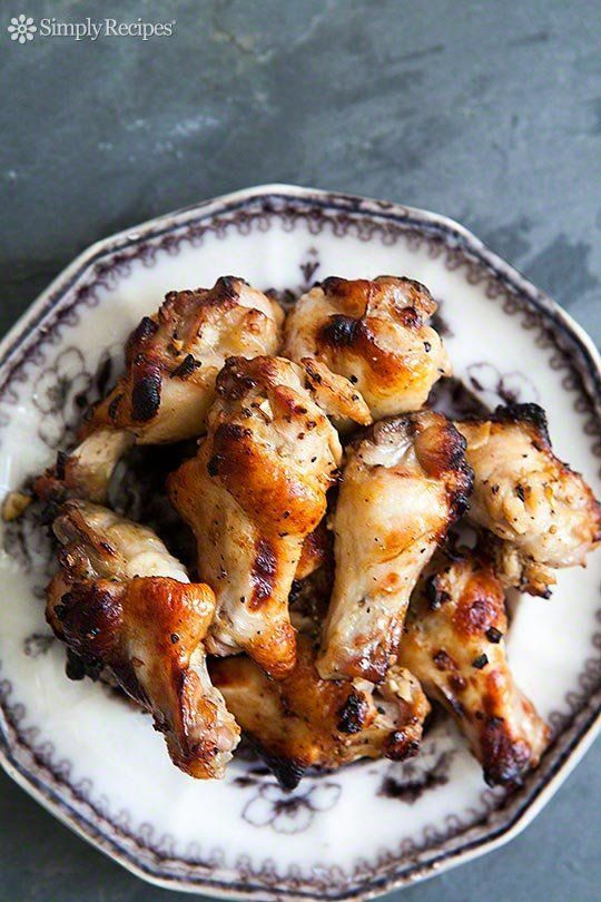"<strong>Get the <a href=""http://www.simplyrecipes.com/recipes/honey_mustard_chicken_wings/"" target=""_blank"">Honey Mustard Chi"