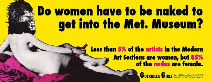 Guerrilla Girls,<i> Do Women Have to be Naked to Get into the Met Museum?</i>, 1989