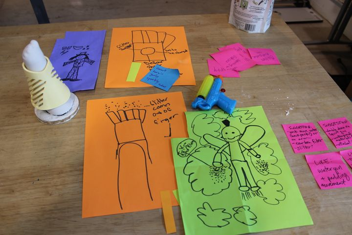 """The initial sketches and ideation of """"Project Unicorn."""""""