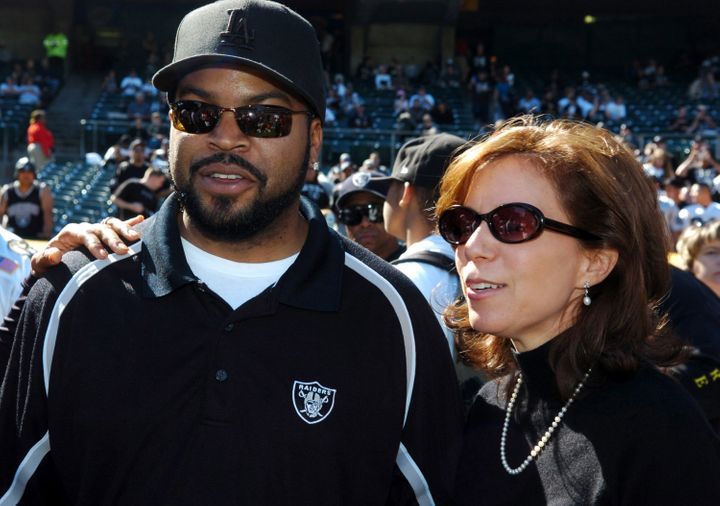 Amy Trask, right, served as the Oakland Raiders CEO from 1997 to 2013.