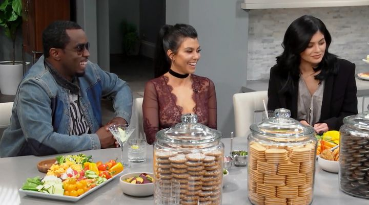 "Diddy asked for some lime in his tequila as he chatted with Khloe, Kourtney, and Kylie on ""Kocktails."""