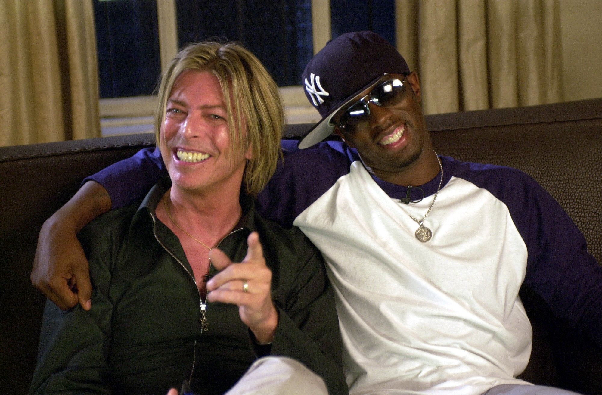 David Bowie and Sean 'P. Diddy' Combs collaborated on the movie soundtrack 'Training Day' due in stores on September 11th. (Photo by KMazur/WireImage)