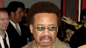 FILE - In this July 7, 2003 file photo, Maurice White, of Earth, Wind, & Fire, appears at an induction ceremony at the Hollywood Rock Walk in the Hollywood section of Los Angeles. White, the founder and leader of Earth, Wind & Fire, died at home in Los Angeles, Wednesday, Feb. 3, 2016, said his brother, Verdine White. He was 74. (AP Photo/Matt Sayles, File)