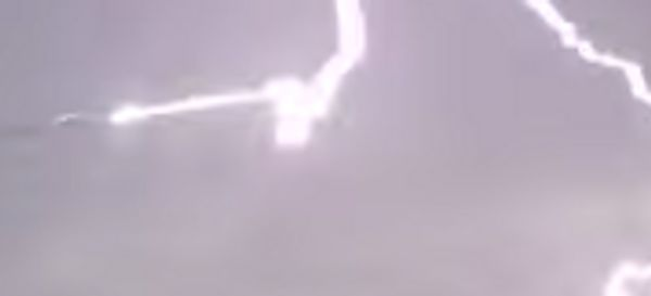 Lightning Zaps Airplane Wing Tip In Terrifying Video