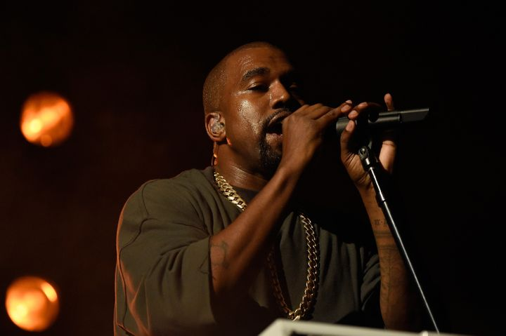 Musician Kanye West performs onstage at the 2015 iHeartRadio Music Festival on September 18, 2015 in Las Vegas, Nevada.