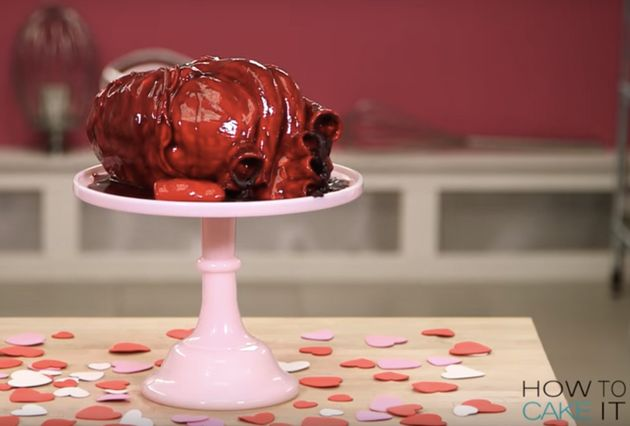This Alternative Valentine's Cake Is Not For The Faint Of