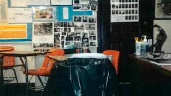 Water leaks inside a Bug-O-Nay-Ge-Shig School classroom in 2014.