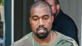NEW YORK, NY - SEPTEMBER 09:  Musician Kanye West leaves his Soho apartment on September 9, 2015 in New York City.  (Photo by Ray Tamarra/GC Images)