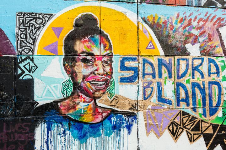 """A mural in downtown Ottawa, Canada, honoring Sandra Bland, who was found dead in a Texas jail last year. """"Boys, girls,"""