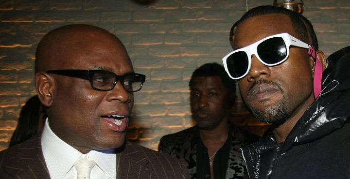 "Record executive Antonio ""LA"" Reid and Kanye West in early 2008."