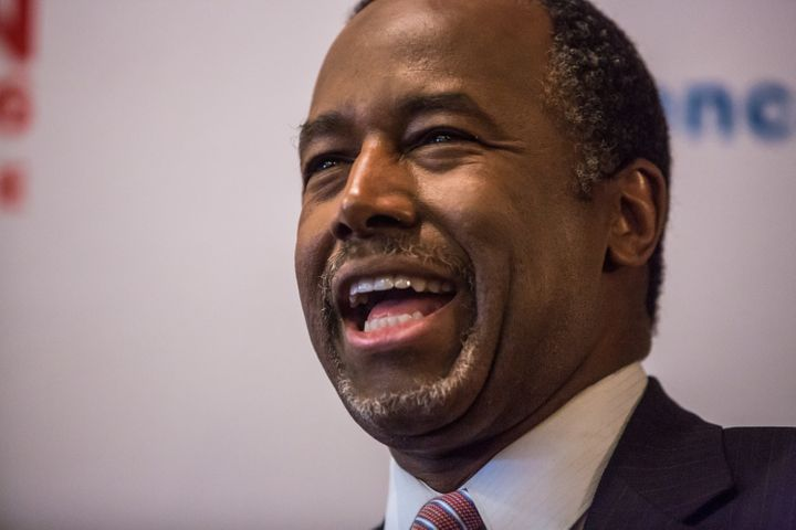 Ben Carson said he wasn't raised to throw his suits in the garbage and buy new ones.