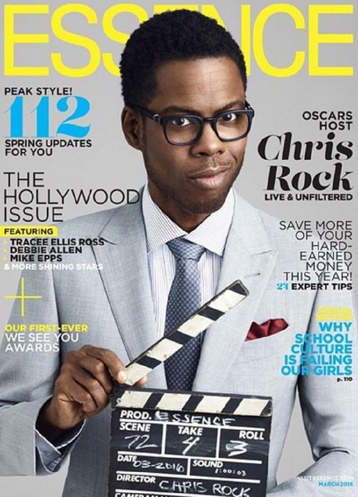 Chris Rock covers the March 2016 issue of Essence magazine.