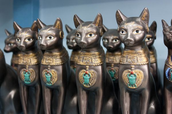 "Bast, or Bastet, is the <a href=""http://www.goddess-guide.com/bast.html"" target=""_blank"">Egyptian goddess</a> of warfare, dep"