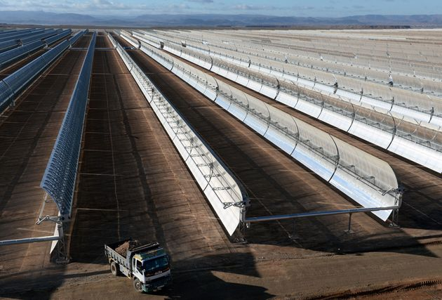 The Noor 1 solar plant in Ouarzazate, Morocco, uses 500,000 curved mirrors to harness the sun's