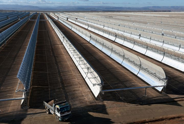 The Noor 1 solar plant in Ouarzazate, Morocco, uses 500,000 curved mirrors to harness the sun's energy.