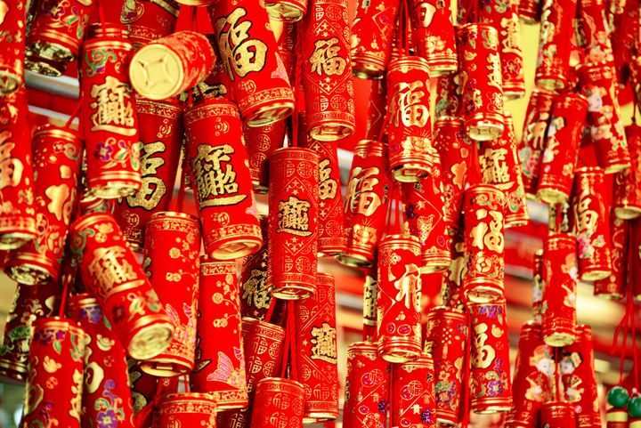 Firecrackers are commonly used duringChinese New Year.
