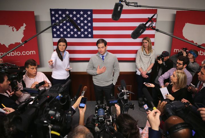The campaign of Sen. Marco Rubio (R-Fla.) has been pushing the narrative that Rubio is picking up momentum in New Hampshire&n