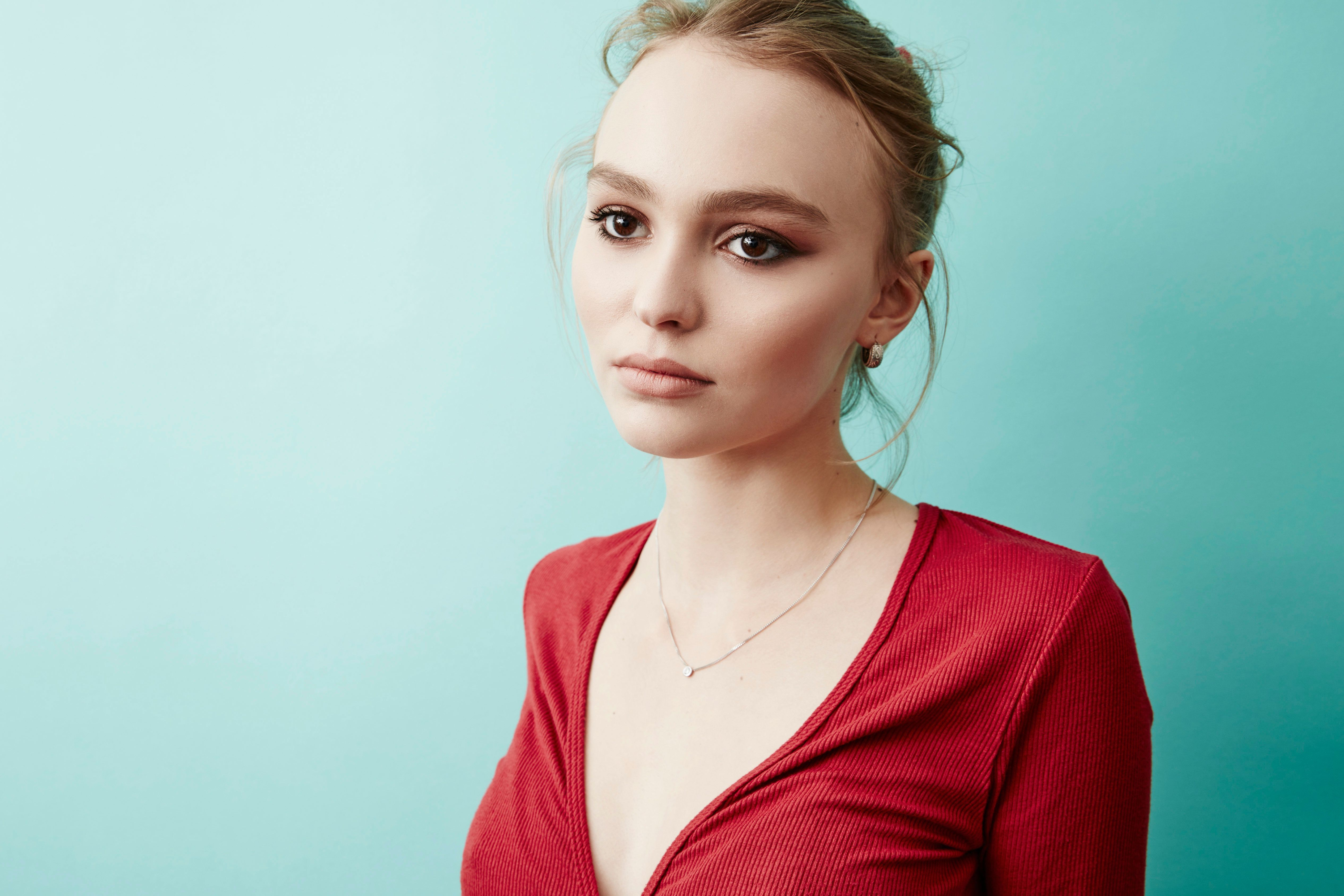 Lily-Rose Melody Depp of 'Yoga Hosers' poses for a portrait at the 2016 Sundance Film Festival Getty Images Portrait Studio Hosted By Eddie Bauer At Village At The Lift on January 24, 2016 in Park City, Utah