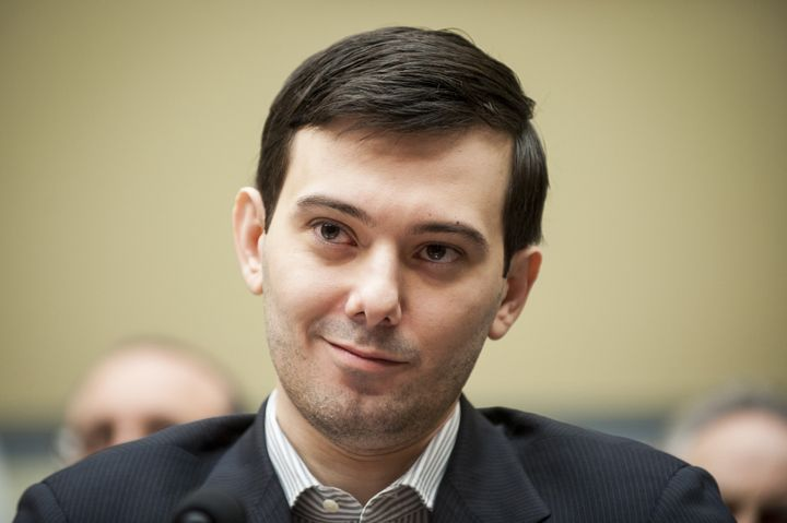 Martin Shkreli, ex-CEO of Turing Pharmaceuticals, likely smirking at the thought ofa Jeb Bush presidency while appearin