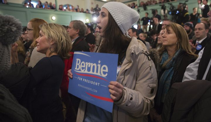 This New Hampshire woman feels the Bern.