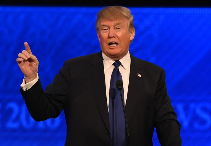 Donald Trump usedhis signature abrasive demeanor to savage his Republican rivals -- and their conservative orthodoxy --