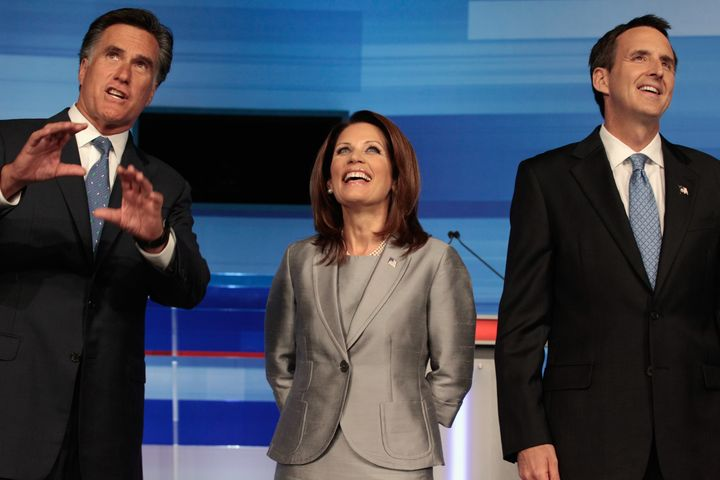 Tim Pawlenty (right) didn't swing and whiff against Mitt Romney (left). He just didn't swing at all.