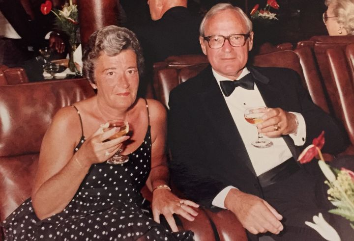 My grandparents on the Queen Elizabeth 2 cruise ship in the late 1970s.