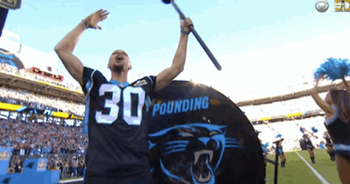 Stephen Curry Started Off Super Bowl 50 With A Literal Bang