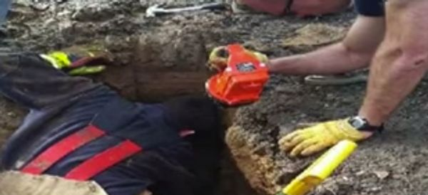 WATCH: Dog Missing For 72 Hours Is Found Buried Alive In Sinkhole