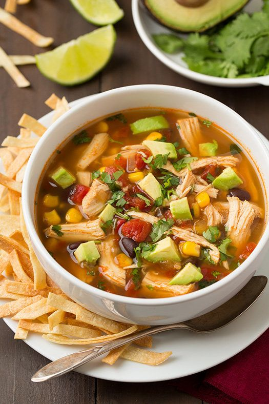 """<strong>Get the<a href=""""http://www.cookingclassy.com/2014/12/slow-cooker-chicken-tortilla-soup-2/"""" target=""""_blank"""">Slow"""