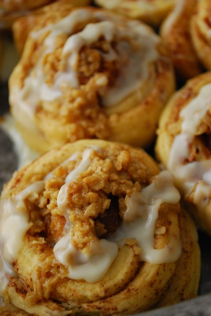 """<strong>Get the <a href=""""http://thedomesticrebel.com/2012/08/13/doughnut-stuffed-cinnamon-rolls/"""" target=""""_blank"""">Donut-Stuffed Cinnamon Rolls recipe</a> from The Domestic Rebel.</strong>"""