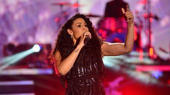 MIAMI, FL - DECEMBER 31:  Jordin Sparks perfoms at Pitbull's New Years Eve Revolution 2016 at Bayfront Park Amphitheater on December 31, 2015 in Miami, Florida.  (Photo by Johnny Louis/Getty Images)