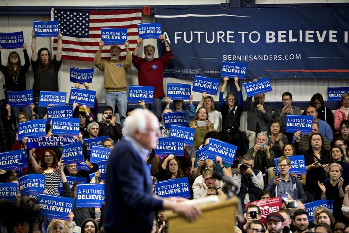Democratic presidential candidate Bernie Sanders is making a significant investment in polls.