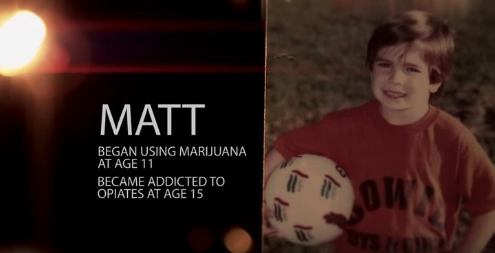 "A screenshot from ""Chasing the Dragon,"" an FBI and DEA documentary that appears to suggest marijuana use leads to opiate"