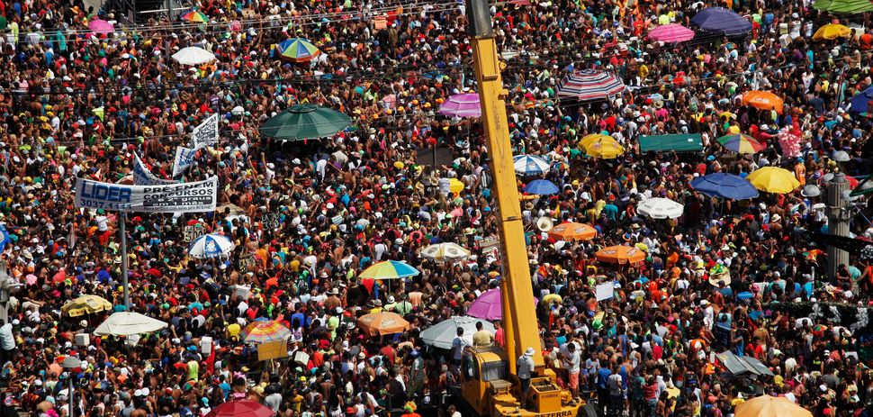 Revelers gather for Carnival celebrations in Recife, a coastal city in east Brazil that was hit particularly hard by the Zika
