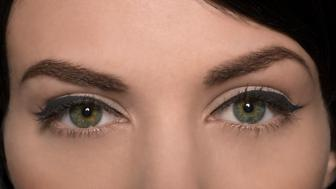 Beauty portrait of females eyes with eyeliner