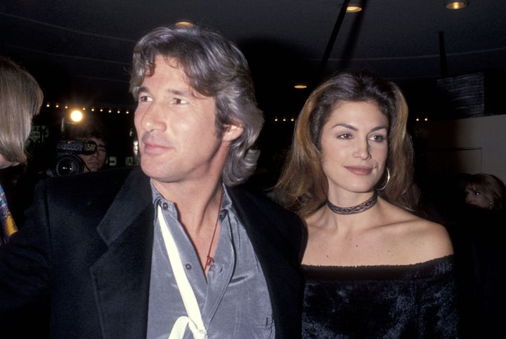 The '90s power couple attend a movie premiere in January 1993. Also: Richard's hair has never looked bouncier.