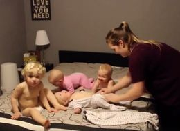 The Hilarious Chaos Of Getting 4 Kids Under 4 Ready For Bed