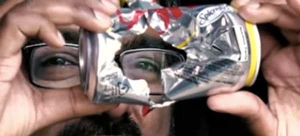 500 MPH Ping Pong Ball Destroys Diet Coke Can