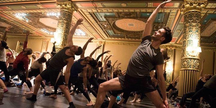 Participants enjoying yoga at the Big Love Weekend.