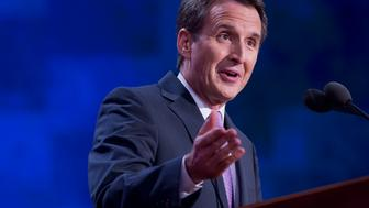 UNITED STATES - AUGUST 29:  Former Gov. Tim Pawlenty, R-Minn., addresses the Republican National Convention in the Tampa Bay Times Forum on the night Rep. Paul Ryan, R-Wisc., republican vice-presidential nominee, delivered a speech to the crowd.  (Photo By Tom Williams/CQ Roll Call)