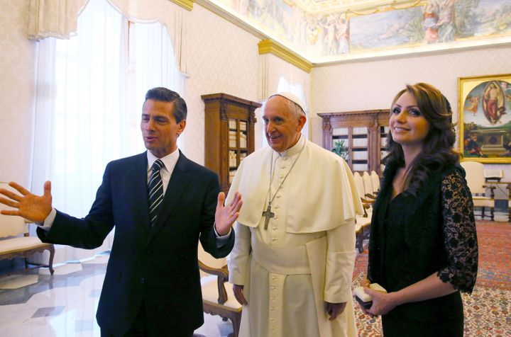 Pope Francis met with Mexican President Enrique Peña Nieto and first lady Angélica Rivera in Vatican City in 20